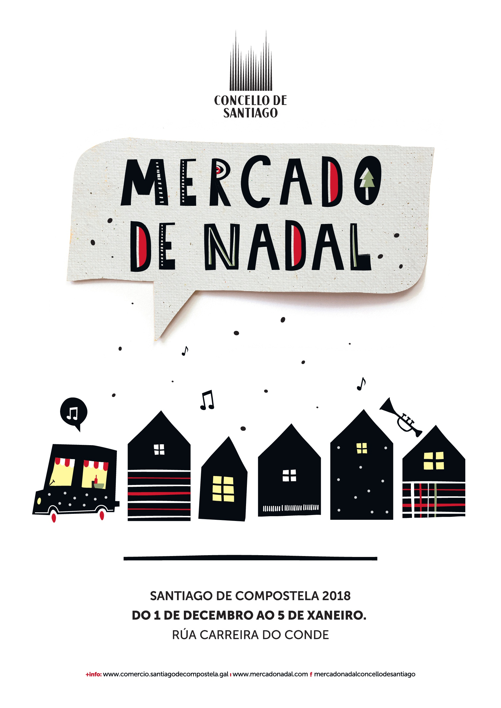 Cartel do Mercado de Nadal 2018.
